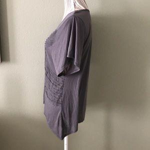 Converse Tops - Converse ruffle detail gray short sleeve top